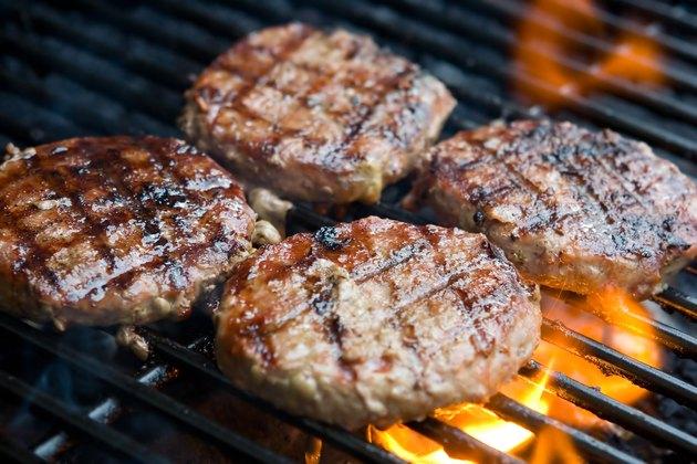 Hamburgers on BBQ
