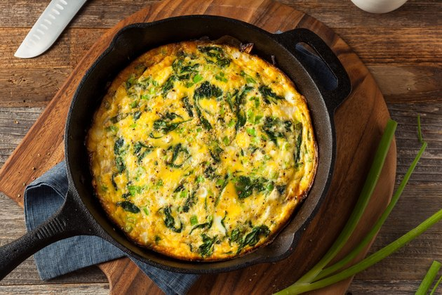 Homemade Spinach and Frittata