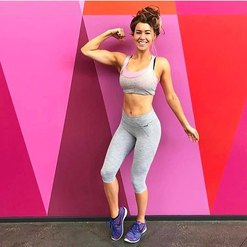 Instagram image of girl on workout clothes.