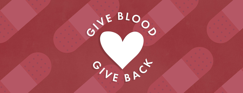 livestrong give blood give back logo