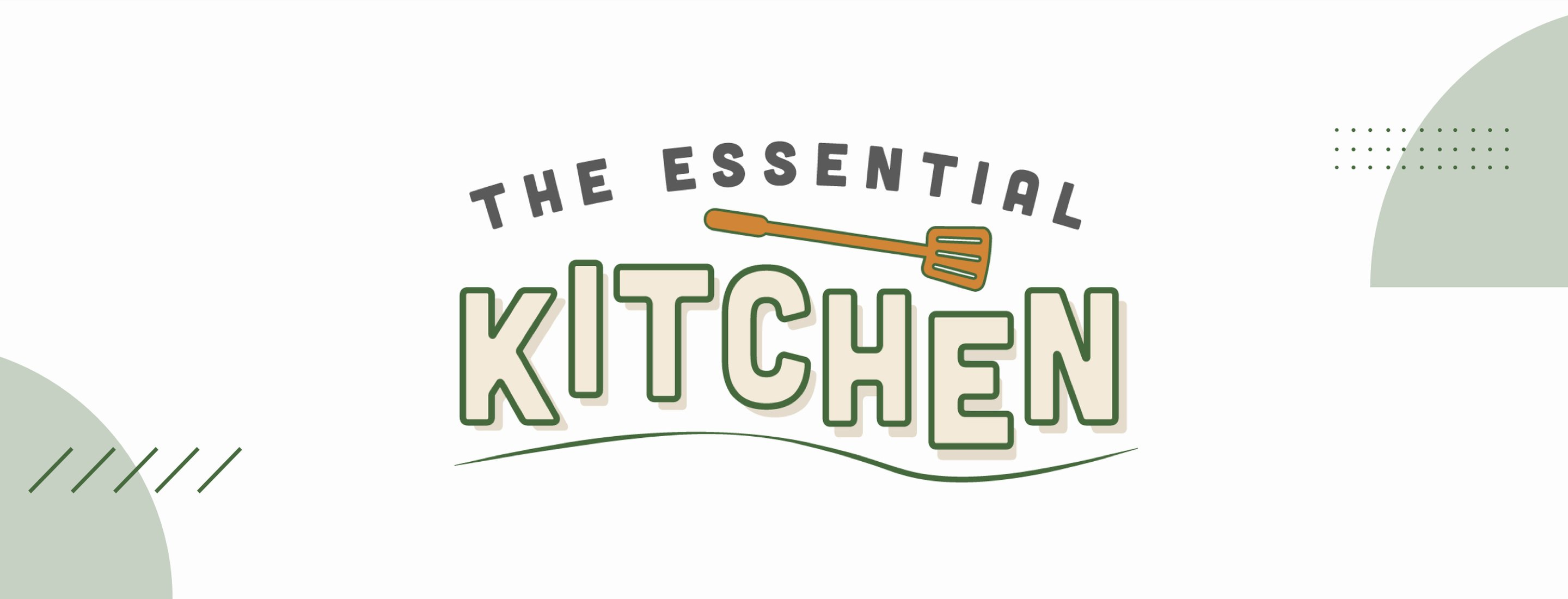 The Essential Kitchen logo with spatula
