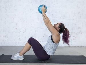 Jordan Shalhoub Doing a Medicine Ball Sit-Up