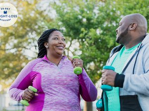 African-American couple exercising together