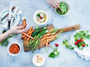 Keto diet vegetables dip as healthy keto snacks