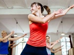 Woman dancing in class