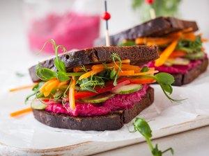 Plant-based vegetarian sandwich