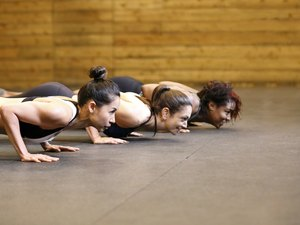 Three woman working out in Gym