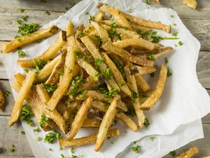 Homemade french fries Parmesan Truffle French Fries