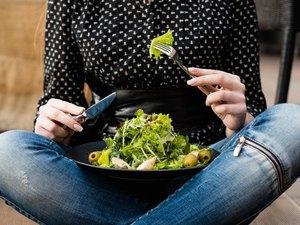 diet food fiber weight loss salad calorie balanced