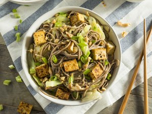 Homemade Asian Tofu Soba Noodle Bowl