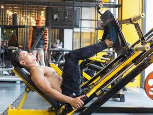 Man building lower-body muscles during leg-day workout