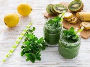 Healthy green fruit  juice