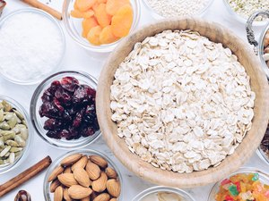 Ingredients for homemade granola