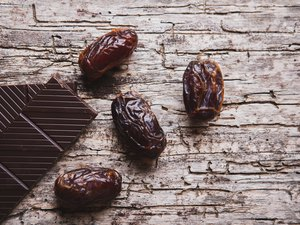 Dates and chocolate.