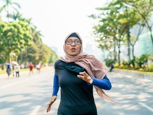 Woman Doing a Running Workout