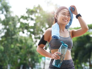 Woman Doing No-Equipment Bootcamp Workout