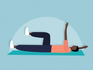 illustration of a person doing the dead bugs exercise to strengthen the core