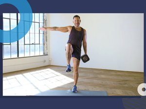 photo of COREntine founder Keoni Hudoba doing 10-minute lower body and core HIIT workout