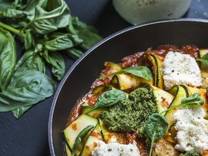 Zucchini Skillet Lasagne with Basil