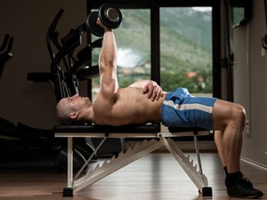 Triceps Exercising With Dumbbell