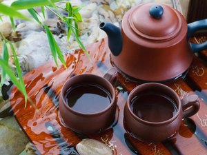 Kombucha is added to tea.