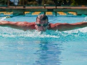 Man in Swim Meet