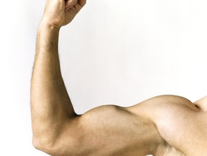 Naked Man Showing His Biceps