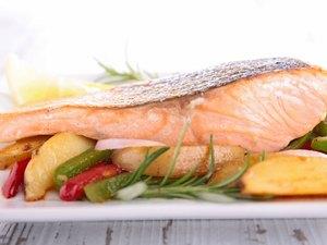 salmon and vegetable
