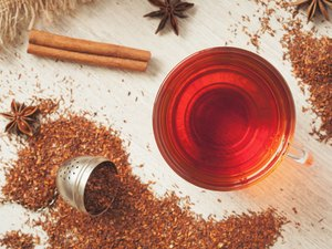 Healthy superfood beverage rooibos african tea with spices