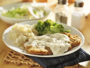 country fried steak with sides