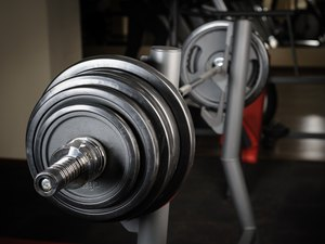 Barbell ready to workout
