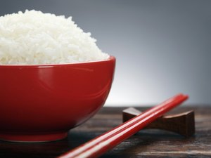 Close-up of a bowl of rice