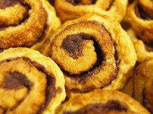 Close-up of cinnamon buns