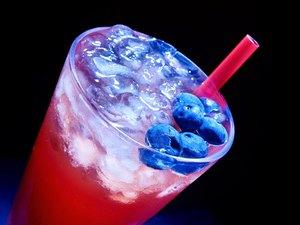 Blueberry  cocktail   on dark background