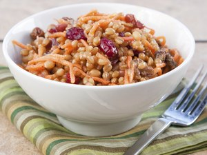 Vegan Salad - Wheat Berry with Cranberries and Nuts
