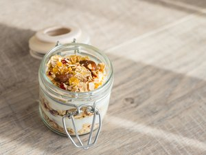 Homemade muesli or granola with nuts and dried fruits