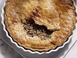 Delicate duck pie