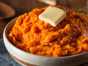 Organic Homemade Mashed Sweet Potatoes