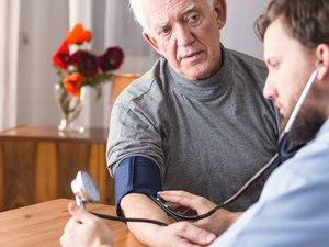 Senior with hypertension