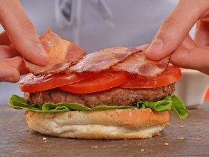 Making burger.