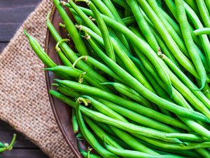 Green beans close up.