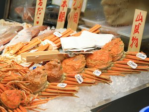 Group of Crab in japan traditional market