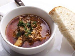 pig pork brain soup