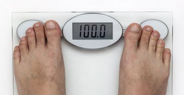Human Foot on the Weight Scale