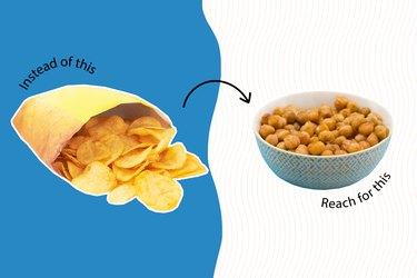 healthy junk food heathy potato chips