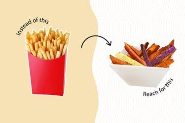 healthy junk food healthy fries