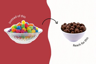 healthy junk food chocolate covered nuts