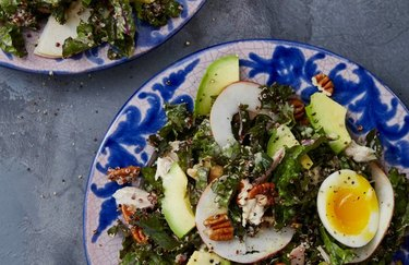 Kale and Chicken Caesar Salad with Quinoa and Pecans Healthy Chicken Recipes