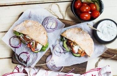 Tzatziki Rotisserie Chicken Pita Healthy Chicken Recipes