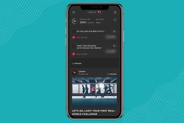 Screenshot of Lympo walking app